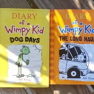 Diary of a Wimpy Kid lot of 2